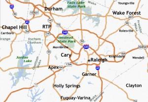 Triangle Area NC map